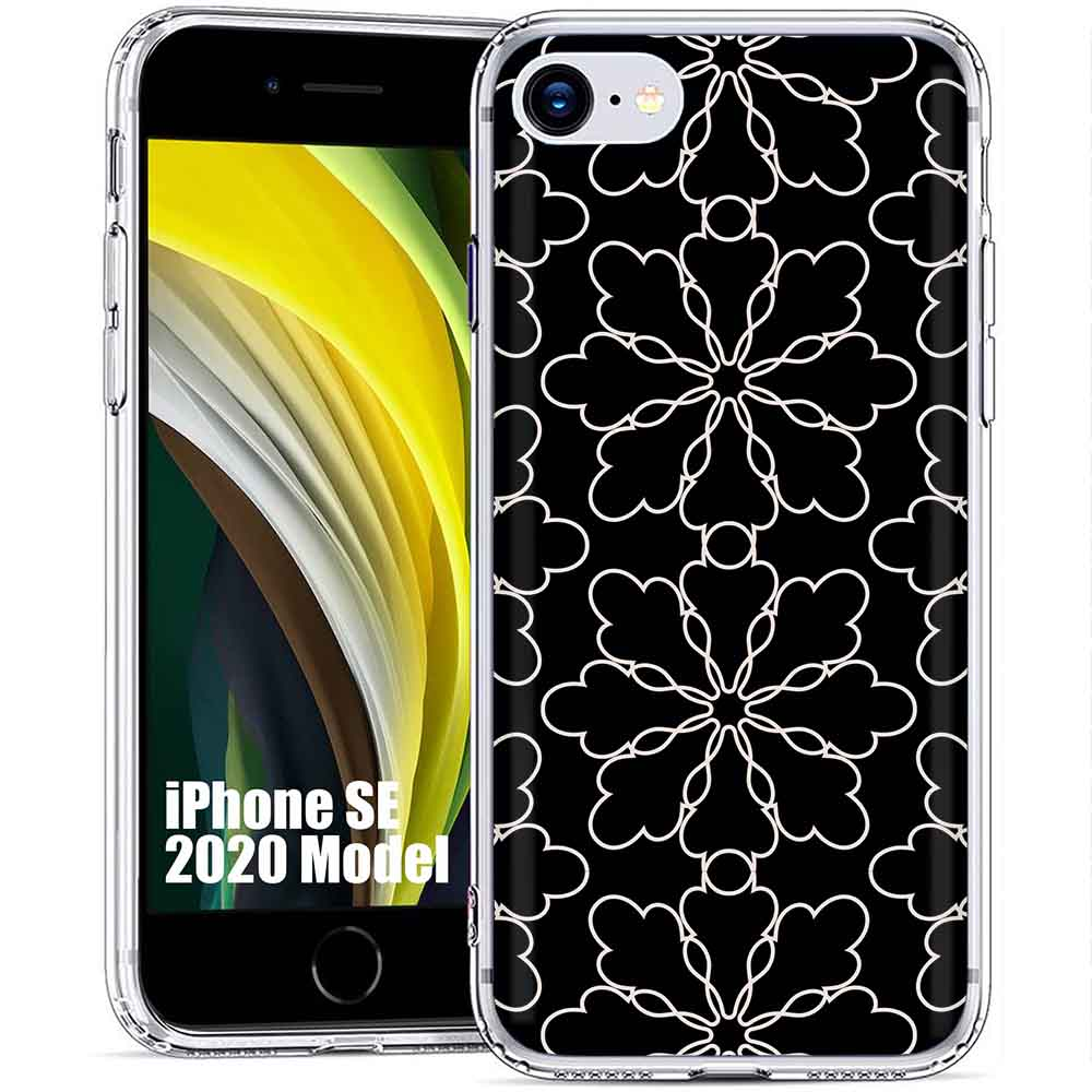 Thin Gel Phone Case for Apple iPhone XR,Golden Pattern Print